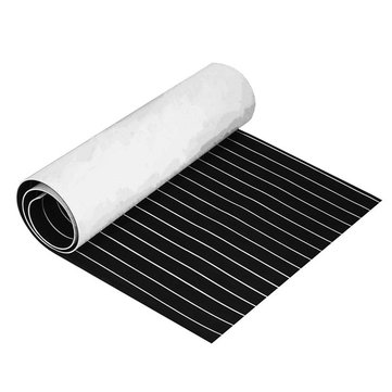 1200x2400mm 5mm / 6mm Black White EVA Foam เรือ แผ่นปูพื้น Faux Teek Decking Pad