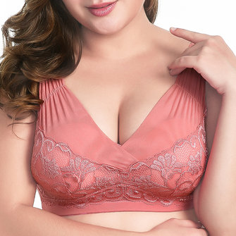 Wireless Soft Lace Thin Bra