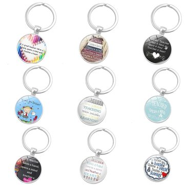 Key Ring Teachers' Day Gift Presents Teaching Love Silver