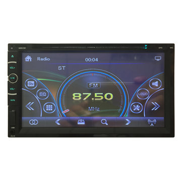 6.95 inch Car DVD MP3 MP4 Player Digital Touch TFT Screen fit Big USB SD MMC Card