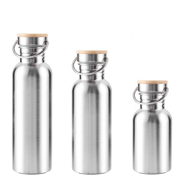 350ML 500ML 750ML Stainless Steel Vacuum Bottle Wide Mouth Drinking Water Sports Kettle BPA Free