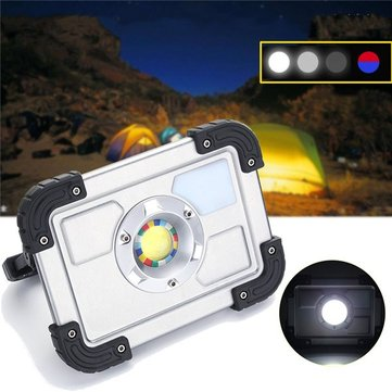 30W Portable Rechargeable COB LED Camping Lantern Work Spot Light for Hiking Fishing