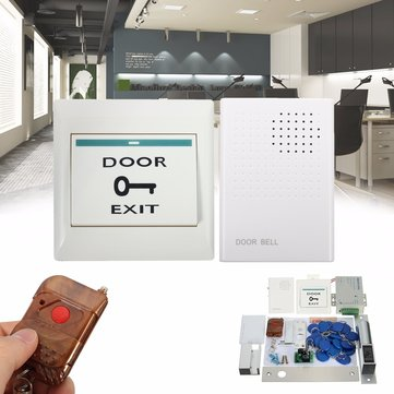 MJPT01 Entry Door Lock Access Control System 20 ID Card Bell Remote Control Home Office