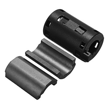 Black EMI RFI Noise Ferrite Core Filter Cutting Noise Cable Wire Snap Clip Clamp 11mm