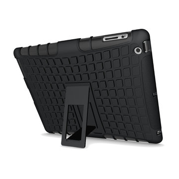 Shockproof Anti Skid Kickstand Case Hybrid Soft Hard Rugged Case Cover For iPad 2/3/4