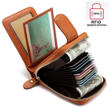 Trifold Genuine Leather Wallet Purse Casual Card Holder
