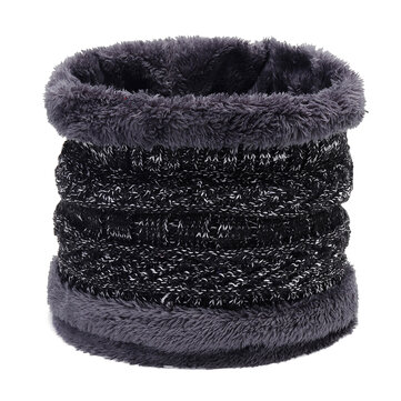 Men Women Winter Trendy Velvet Plus Woolen Knit Neck Warmer