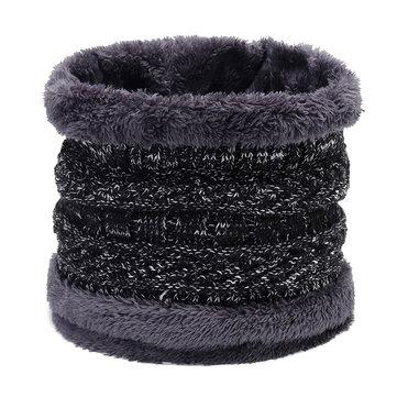 Men Women Winter Trendy Velvet Plus Woolen Knit Neck Warmer