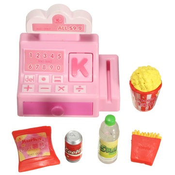 Doll House Accessories Mini Store Shop Cash Register Kit Toy
