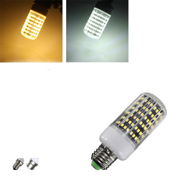 E27/B22/E14 LED Bulb 18W 1300LM 162 SMD 2835 White/Warm White Corn Light Lamp AC 220V