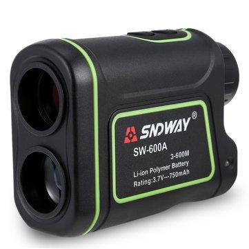 SNDWAY SW-600A Laser Rangefinder Telescope Distance Handheld Monocular Meter 5-600M Measurement Tool
