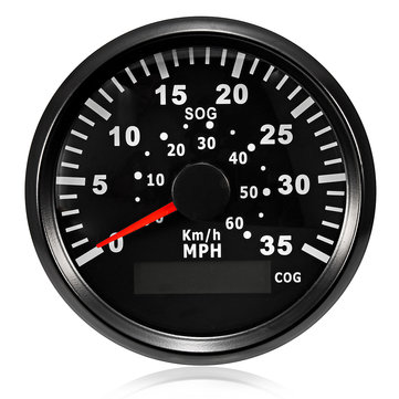 85mm 60KM/H 35MPH GPS Speedometer Gauge Odometer 35MPH Stainless Steel Motorcycle Car Truck Boat