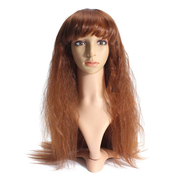 70cm Long Curly Wavy Wig Women Lady Cosplay Party Wigs Full Bang