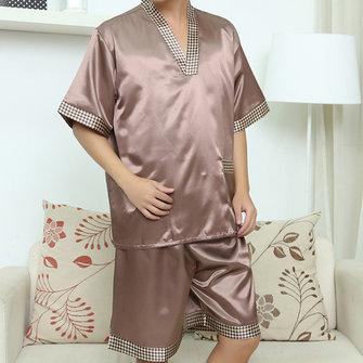Casual Accueil Soft Bath Peignoir Vapeur Sauna Suits Impression Sleepwear Ensembles pour hommes
