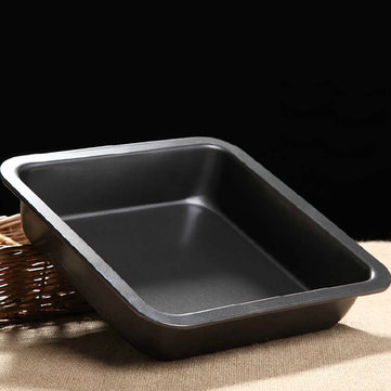Honana 8 Inch Baking Pan Non-stick Square Pizze Pan Cake Pan Mold Baking Tray BBQ Dish