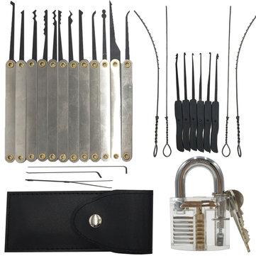 DANIU 12pcs Déverrouillage Set de bloc + clé 10pcs Extractor Set + 1pc Veste transparente pour la pratique