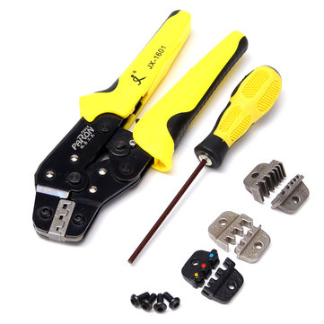 Professional Wire Crimper Pliers Ratcheting Terminal Crimping Tool Kit