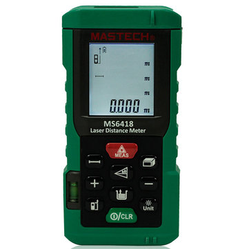 MASTECH MS6418 80M Laser Distance Meter Distance Area Volume Measure Digital Rangefinder with Bubble Level