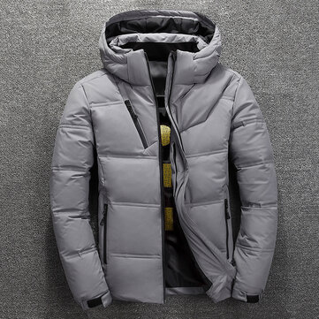 Mens Winter Windproof Waterproof Thick Warm Down Jacket Outdoor Padded Parka