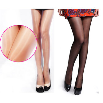 Women Ladies Shimmer Shiny Glossy Sexy Sheer Stockings Pantyhose Tights Opaque Hosiery