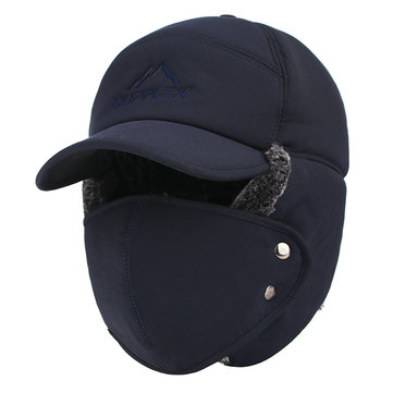 Outdoor Cycling Thicken Trapper Hat with Face Mask