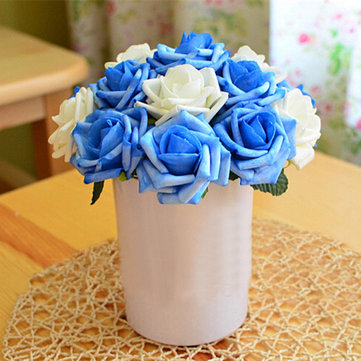 27cm Europe Minimalist Style Handmade Artificial Flowers Home Decor Simulation Flowers Rose