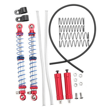 Xtra Speed 1:10 110mm Adjustable Shock Absorber Piggy Back Dual Springs Damper Red RC Car XS-59644RD