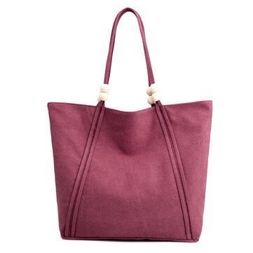 Women Canvas Casual Simple Capacity Tote Bag Handbag Shoulder Bag