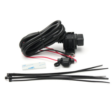 12V Waterproof Motorcycle Car Cigarette Lighter Plug Socket USB Charger Adapter