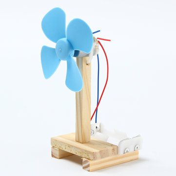 DIY Technology Invention Small Fan Creative Assembly Blocks Toys Kit