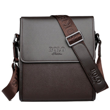 Men Business Shoulder Bag Casual Messenger Bag Black Brown Crossbody Bag