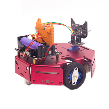 DIY Robotbit Patrol Line Obstacle Avoidance Smart Robot Car Kit With Microbit Expanding Board