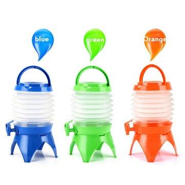 5.5L Large-Capacity PE Plastic Folding Storage Water Bucket Drinking Water Bottle Kettle Portable Beer Kegs