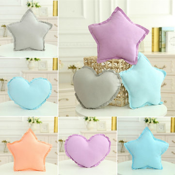 Creative Star Heart Shape Throw Pillow Cotton Cloth Sofa Bed Car Office Cushion Home Decor