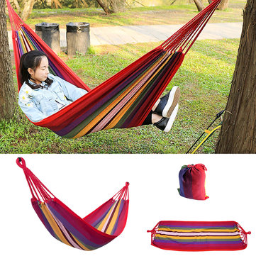 Trackman TM6413 Portable Camping Hammock Travel Mat Outdoor Cotton Polyester Swing Bed Sleeping Bag