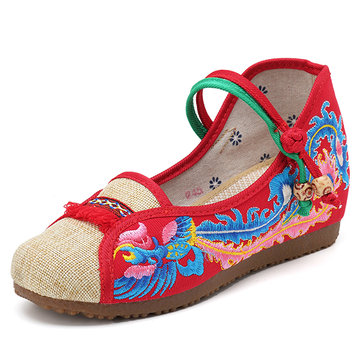 Folkways Embroidered Women Casual Flats Shoes