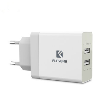 FLOVEME 3.4A Dual USB Fast Travel Wall Charger For iPhone X 8Plus OnePlus 5 Xiaomi Mi6 Mix 2 S8