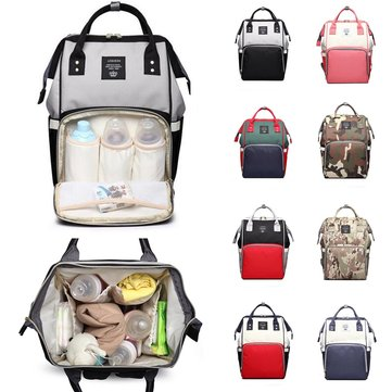 ₹2,357.07 16L Mummy Backpack Baby Nappy Diaper Bag Large Capacity Storage Pouch Outdoor Travel Camping from Sports & Outdoor on banggood.com