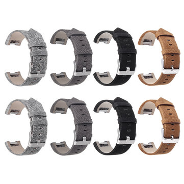 Colorful Strap Leather Watch Band Interchangeable Smart Watchbands For Fitbit Charge 2