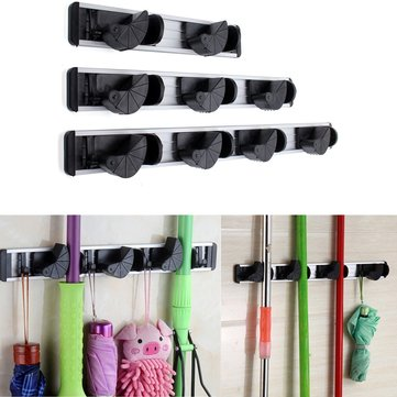 Multiduction Aluminium Wall Mounted Mop Broom Holder Brush Rack Hanger