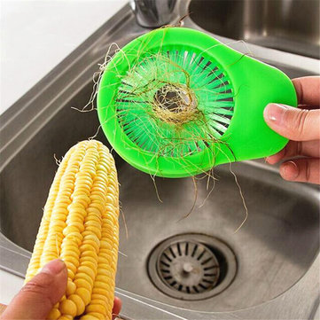 KCASA KC-CS01 Portable Vegetable Fruit Cucumber Corn Cleaning Brush Desilker Corn Silk Remover