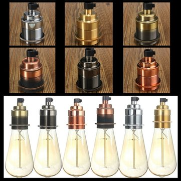 E27/E26 Base Vintage Edison Thread Lamp Bulb Pendant Light Holder Socket Fixture