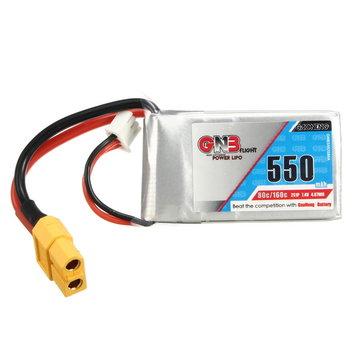 Gaoneng GNB 7.4V 550mAh 2S 80 / 160C Lipo Batterij XT60 Plug