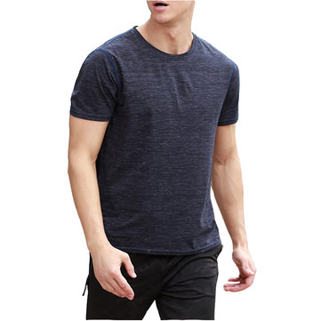 MensbreathableQuickDryingSportWorkout Fit T-Shirts Snabb Perspiration Short Sleeve Tee Tops