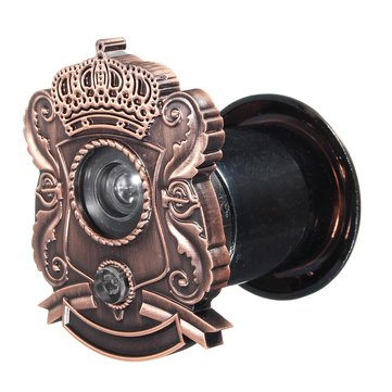 Antique Adjustable Home Security 180 Degree Wide Angle Door Viewer Peep Brass Sight Hole
