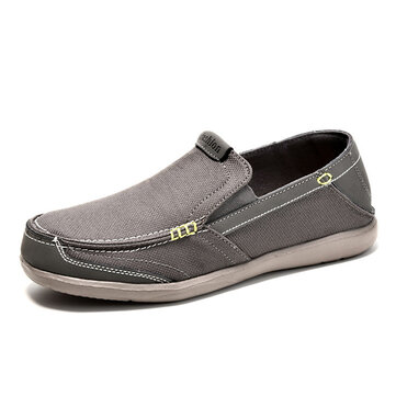Mens Leisure Sneakers Slip On Flat Loafers Soft Sole Breathable Shoes