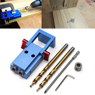 Mini Pocket Hole Jig Kit Woodwork Guide Woodworking Tool