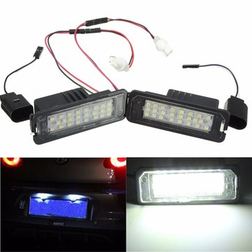 24 LED White License Number Plate Light Canbus For VW Passat Golf GTI MK5 MK6