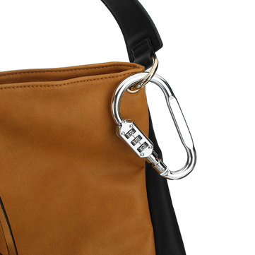 3 Digit Combination Carabiner Lock Dial Password Keychain Buckle Key Holder Suitcase Travel Luggage