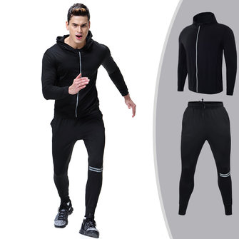 Men Sportswear Running Tracksuit Zipper Coat And Pants Gym Traning Fitness jogging Suit